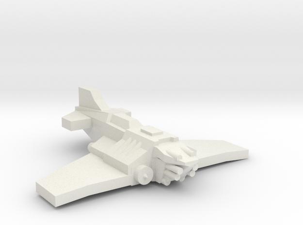 [5] Heavy Fighter in White Natural Versatile Plastic