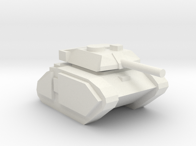[5] Advanced Main Battle Tank in White Natural Versatile Plastic