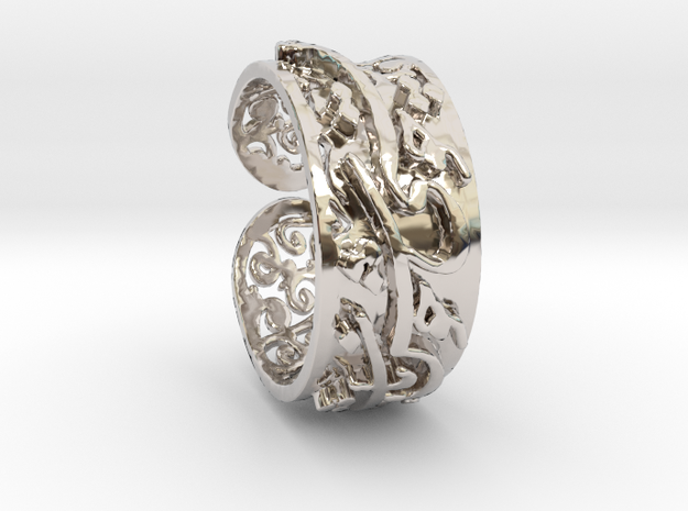 Khayam-1075 in Rhodium Plated