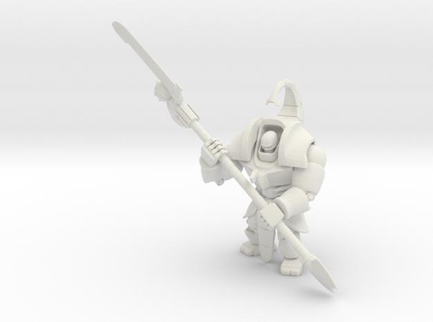 Necron Executioner in White Natural Versatile Plastic