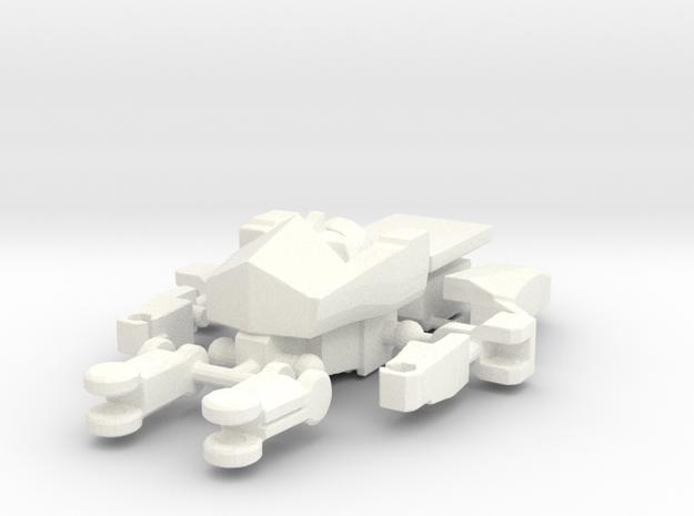 DOTM Voyager Skyhammer Assault kit Headmaster MEG in White Processed Versatile Plastic