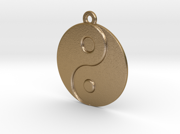 Balance Pendant in Polished Gold Steel