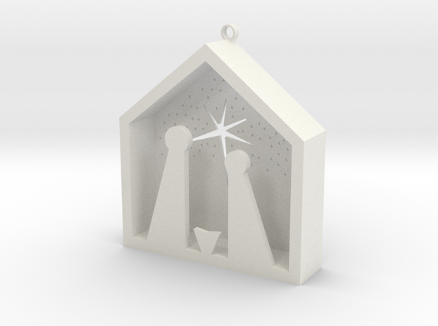 Christmas Crib in White Strong & Flexible