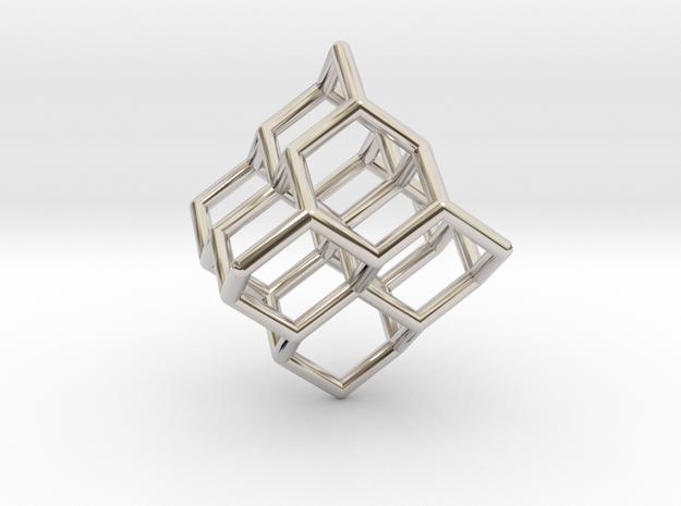 'Diamond' Earring -1mm diameter stuts in Rhodium Plated Brass