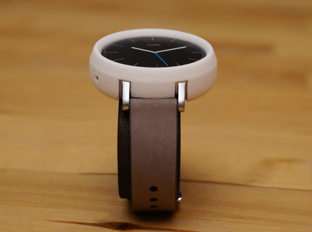 Moto 360 Gen 2 Bumper Case - 42mm Womens Tall in White Strong & Flexible