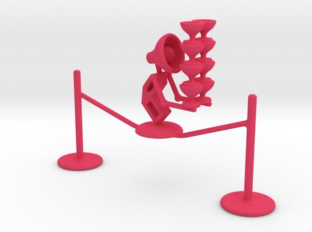 "Lala ""Walking in rope & balancing wine glass"" - De in Pink Processed Versatile Plastic"