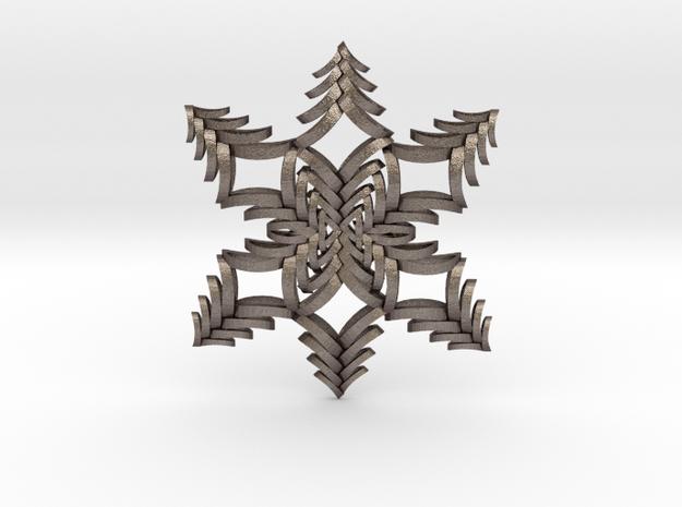 Fancy Flake in Polished Bronzed Silver Steel