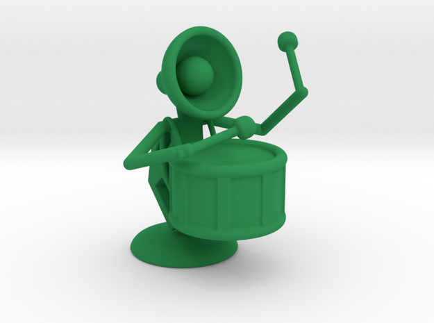 """Lala """"Performing in Drum Band"""" - DeskToys in Green Strong & Flexible Polished"""