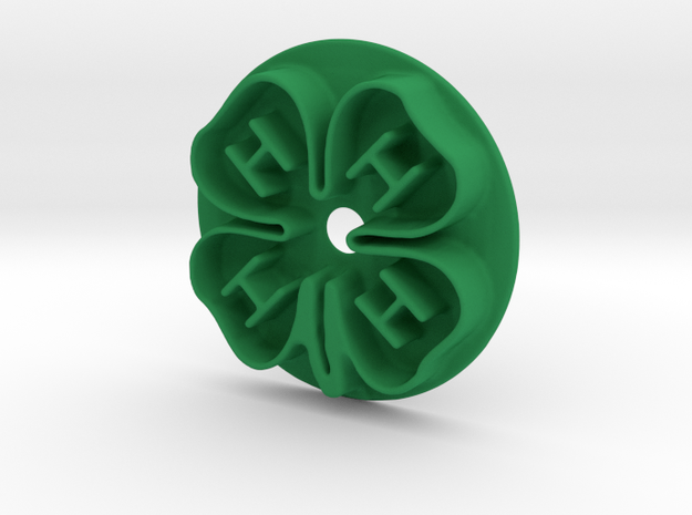 4H Clover Cookie Cutter Small 60mm in Green Processed Versatile Plastic