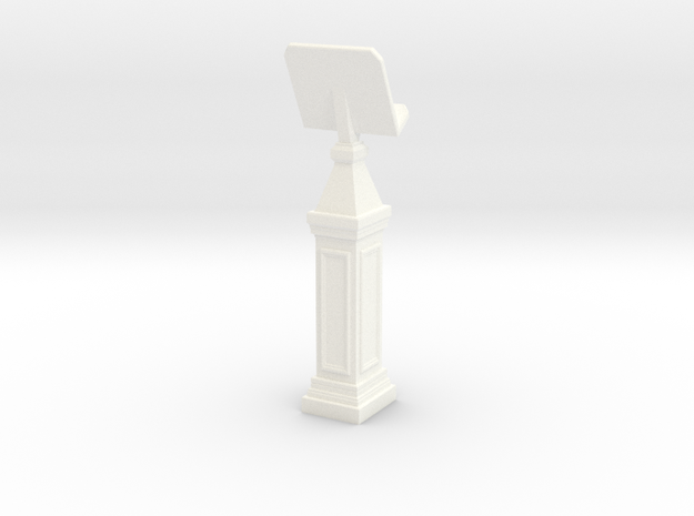 Eldorpodiumtall in White Strong & Flexible Polished