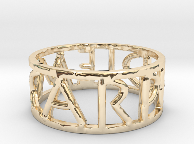Carpe Diem Ring Size 7 in 14K Yellow Gold