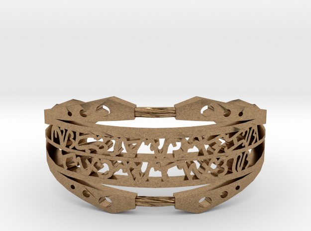 Bagani Artifact Bracelet in Raw Brass