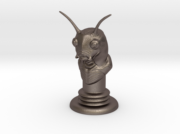 Alien-07 in Polished Bronzed Silver Steel