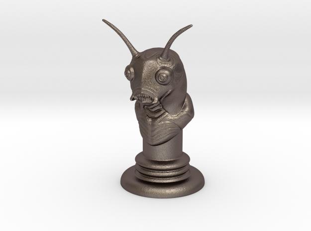 Alien-07 in Polished Bronzed Silver Steel