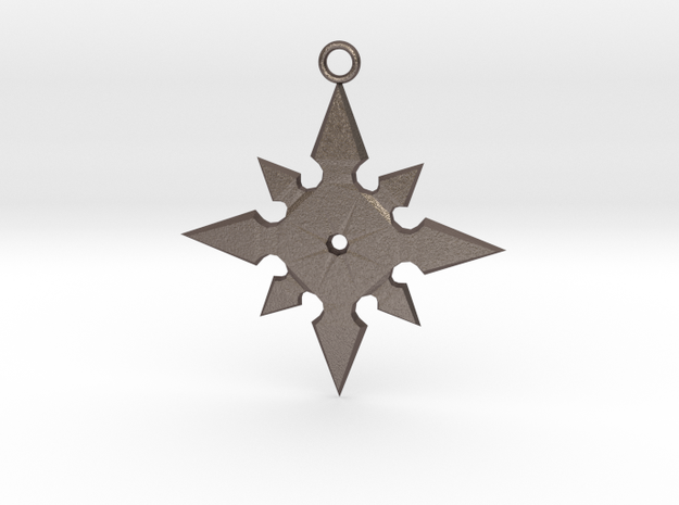 Star Pendant (MK9) in Polished Bronzed Silver Steel