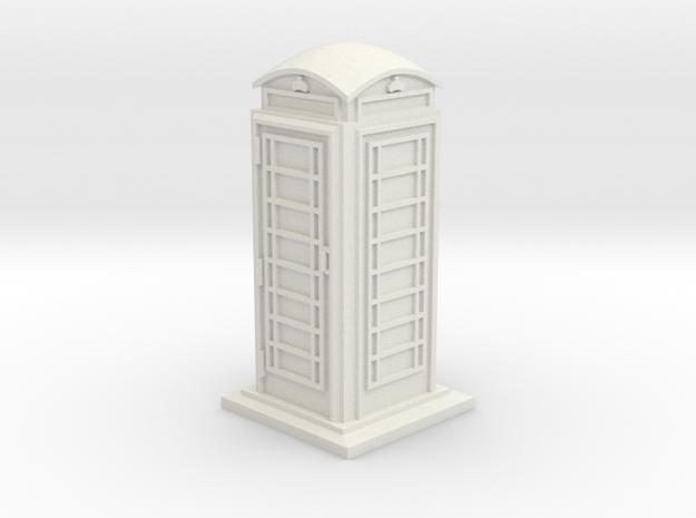 35mm/O Gauge Phone Box in White Natural Versatile Plastic