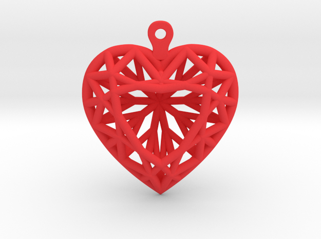 3D Printed Diamond Heart Cut Earrings