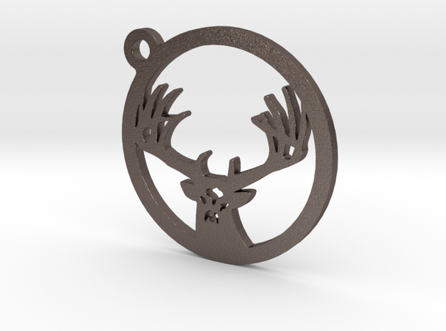 White tail keychain 1 in Stainless Steel