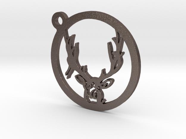 Mule Deer Keychain 2 in Stainless Steel