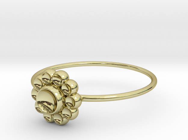Size 7 Shapes Ring S4 in 18k Gold Plated Brass