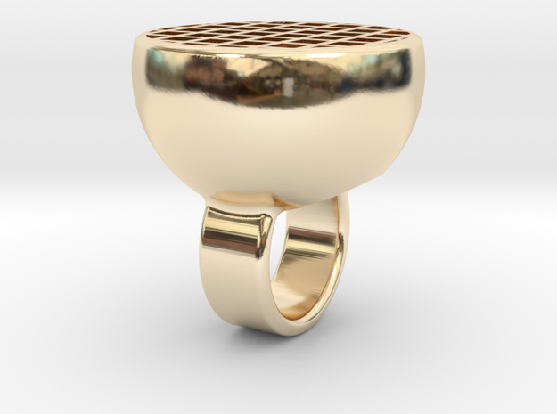 Maze-ring in 14K Gold