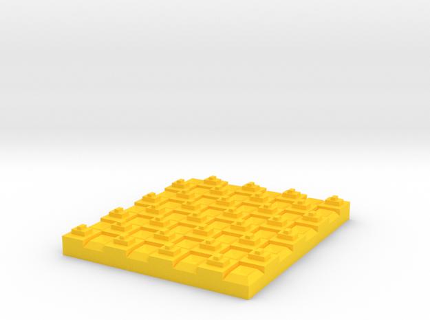 Checker in Yellow Processed Versatile Plastic