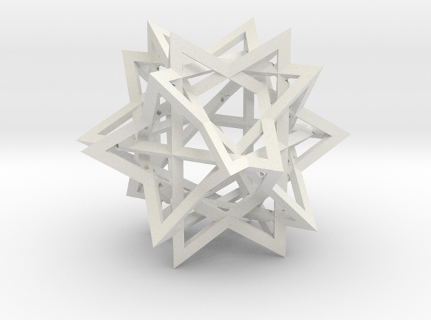 Tetrahedron 6 Compound in White Natural Versatile Plastic