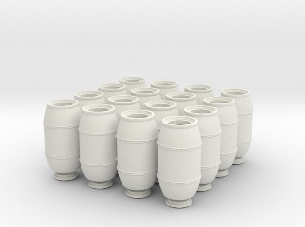 DeAgo Falcon Main Hold Floor  Barrels 16 pieces  in White Natural Versatile Plastic