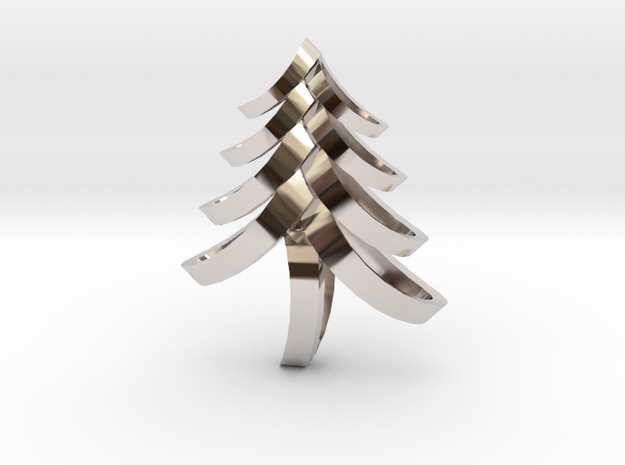 Fancy Tree in Rhodium Plated Brass