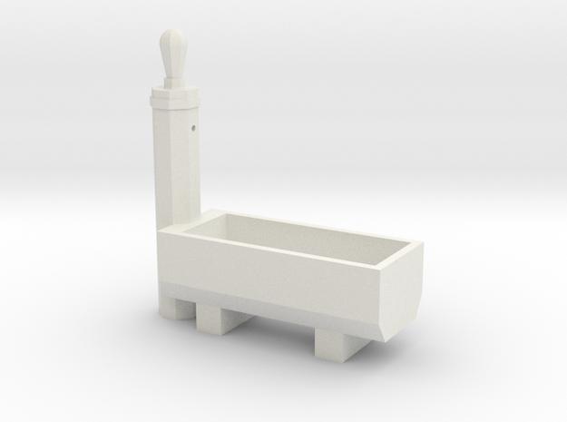 RhB Fountain - Standard (H0) in White Natural Versatile Plastic