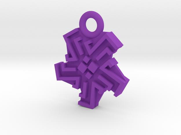 Ingress Heat Sink Pendant (1 inch) in Purple Processed Versatile Plastic