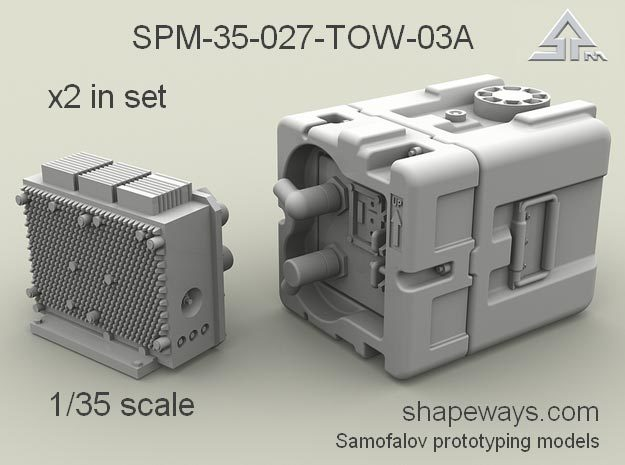 1/35 SPM-35-027-TOW-03A TOW battery x2 in set in Smoothest Fine Detail Plastic