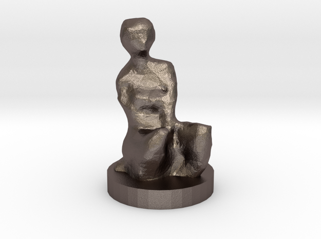 CHRISTINA in Polished Bronzed Silver Steel