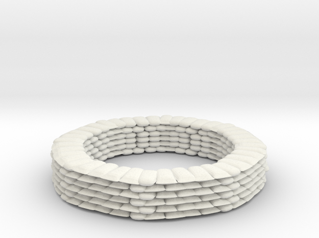 Sandbag Ring for 6mm, 1/300 or 1/285 in White Natural Versatile Plastic