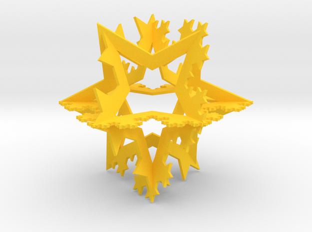 Koch Fractal Ornament 3d printed