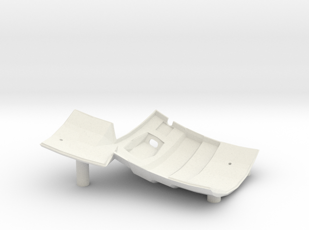Dactyl Keyboard - Right Bottom in White Natural Versatile Plastic