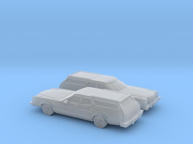 1/160 2X 1977-79 Ford LTD II Station Wagon in Smooth Fine Detail Plastic
