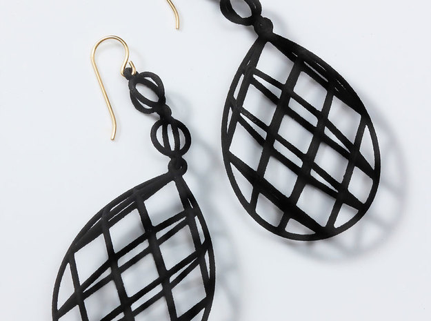 Faceted Briolette Earrings in White Strong & Flexible