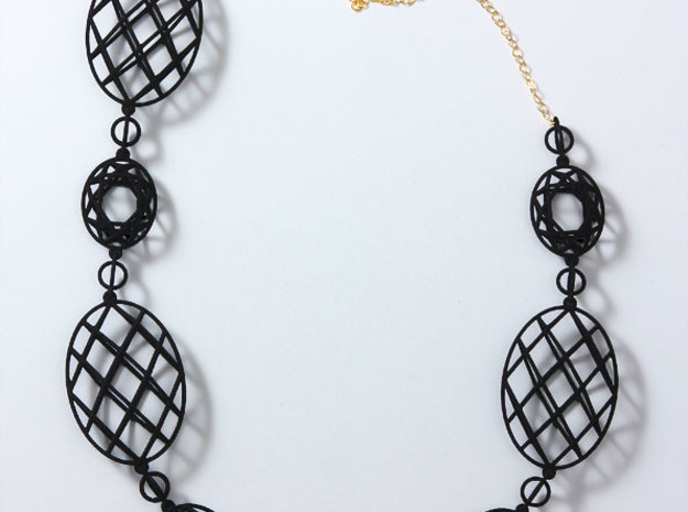 Faceted Ovals Necklace in White Strong & Flexible