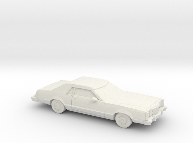 1/87 1977-79 Ford LTD II Sport Turing Edition in White Natural Versatile Plastic