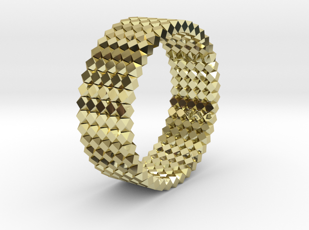 OCTAHEDRON Ring Nº13 in 18k Gold Plated