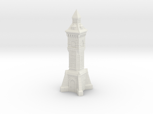 28mm/32mm scale Victorian clock Tower in White Natural Versatile Plastic
