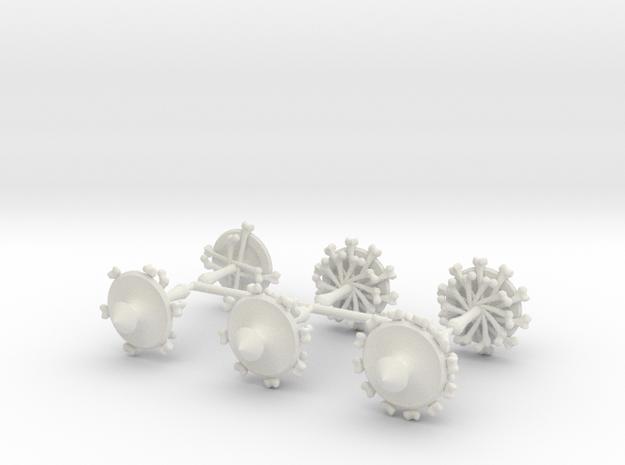 Master Bonetop Set in White Natural Versatile Plastic