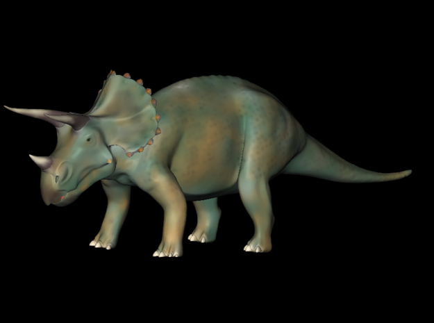 Replica Toys Jurassic World Triceratops  in Blue Strong & Flexible Polished