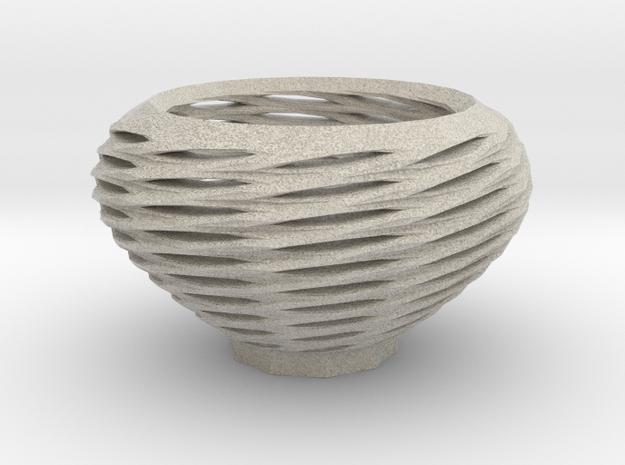 Spiral Basket in Sandstone