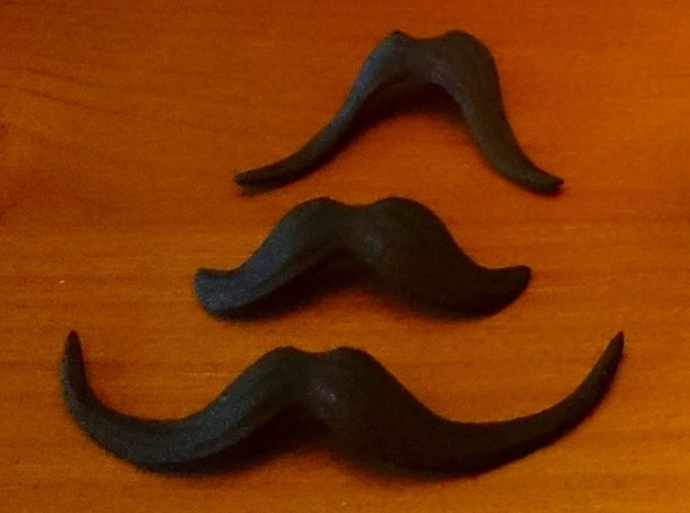 November Mike Mustache Pack in Black Natural Versatile Plastic