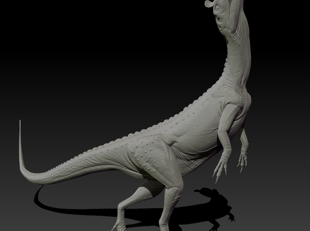 1/40 Cryolophosaurus - Calling/Territorial 3d printed Zbrush Render of final sculpt