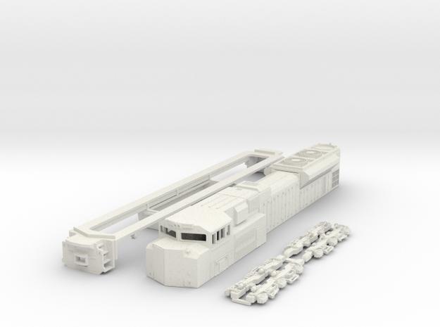 TT Scale SD70ACe in White Natural Versatile Plastic