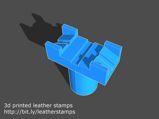 Leather stamp 3 + tool, basic leatherwork pattern in Yellow Strong & Flexible Polished