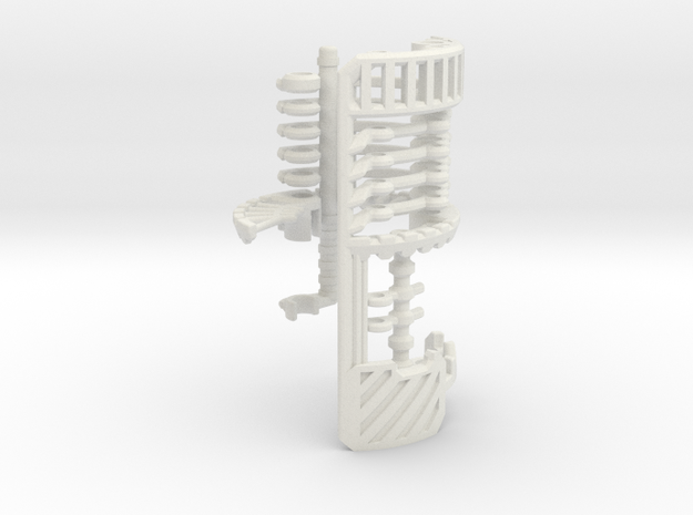 V2-01-2-CC - Master Chassis - Part2 CC Shell in White Natural Versatile Plastic